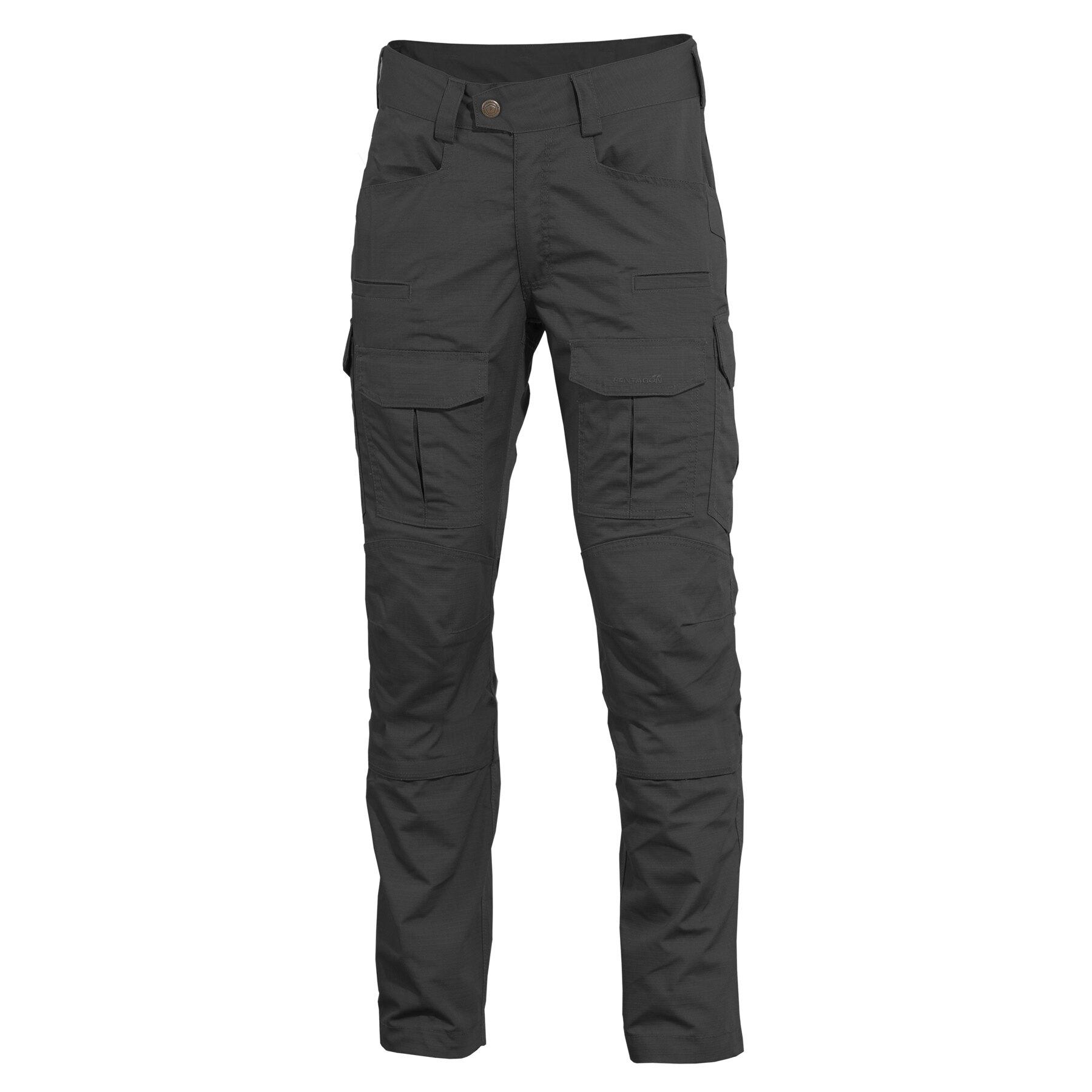 Nohavice Lycos Combat Pentagon® – Čierna (Farba: Čierna, Veľkosť: 42)
