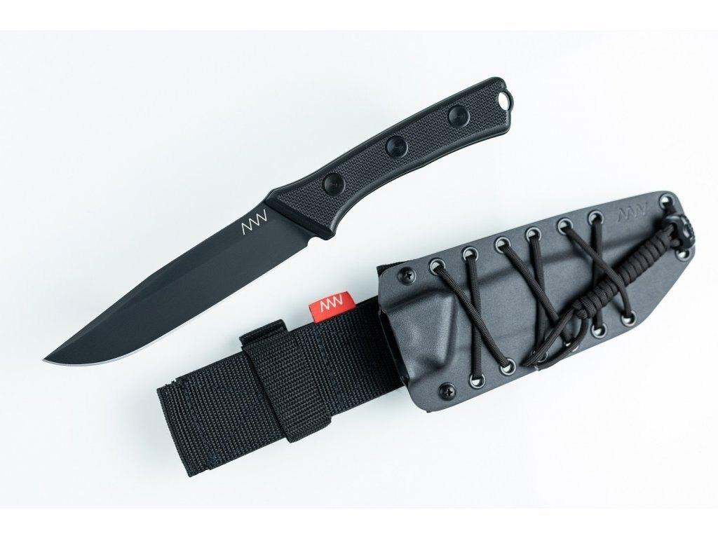 Nôž s pevnou čepeľou P300 - Limited ANV® - farba rukoväte: čierna, DLC čierna čepeľ + Kydex puzdro čierne (Farba: Čierna, Varianta: DLC ČIERNA ČEPEĽ +