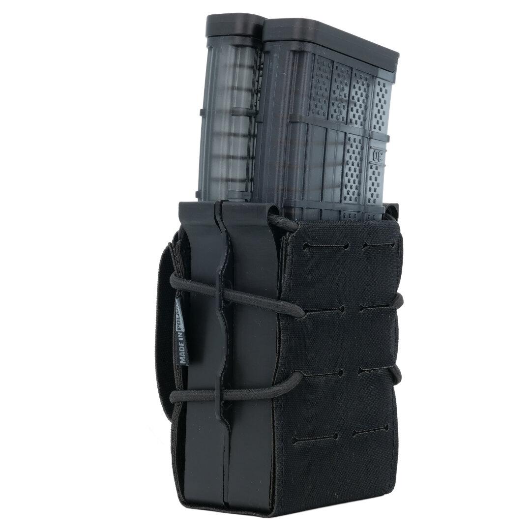 Dvojitá samosvorná sumka na puškový zásobník Templar's Gear® – Černá (Farba: Čierna)
