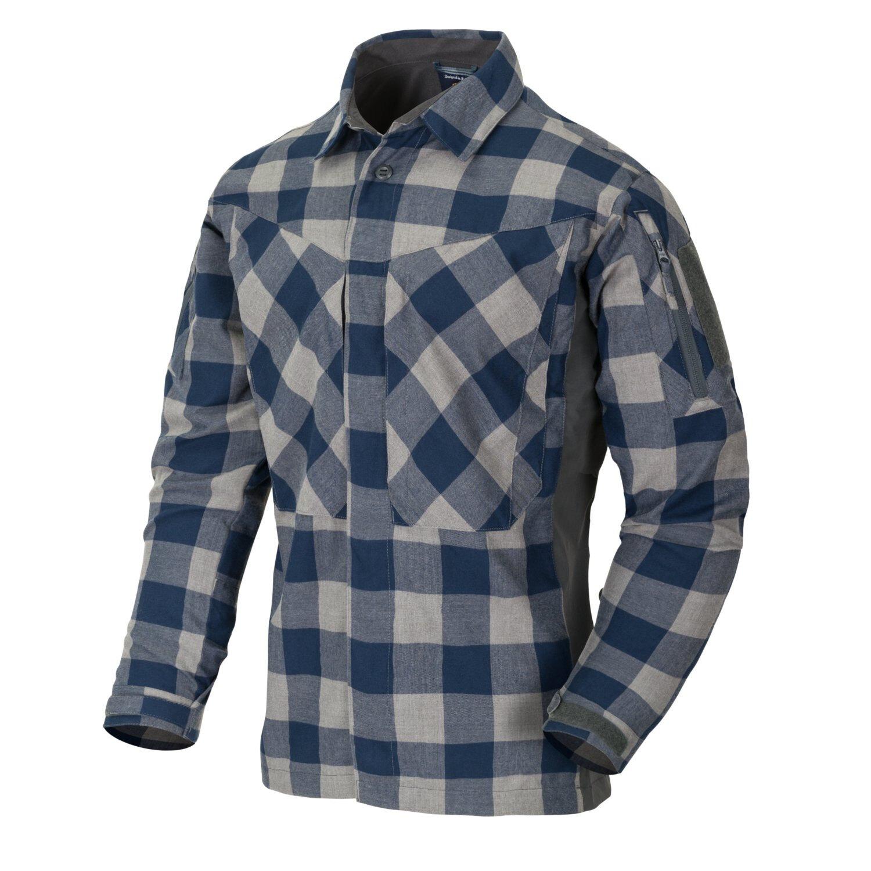 Flanelová košile MBDU Helikon-Tex® – Modrá (Farba: Modrá, Veľkosť: L)