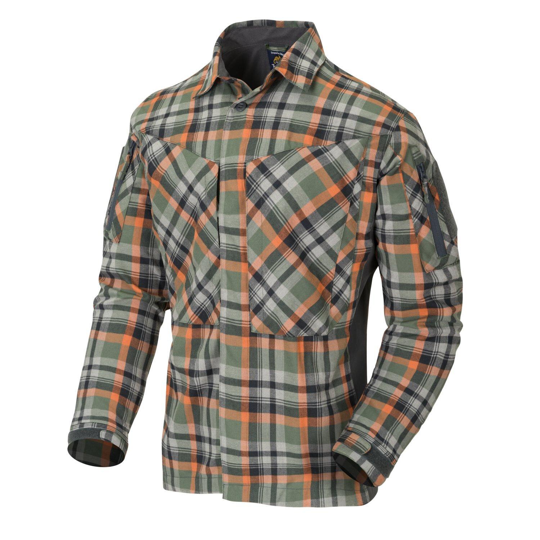 Flanelová košile MBDU Helikon-Tex® – Zelená (Farba: Zelená, Veľkosť: 3XL)