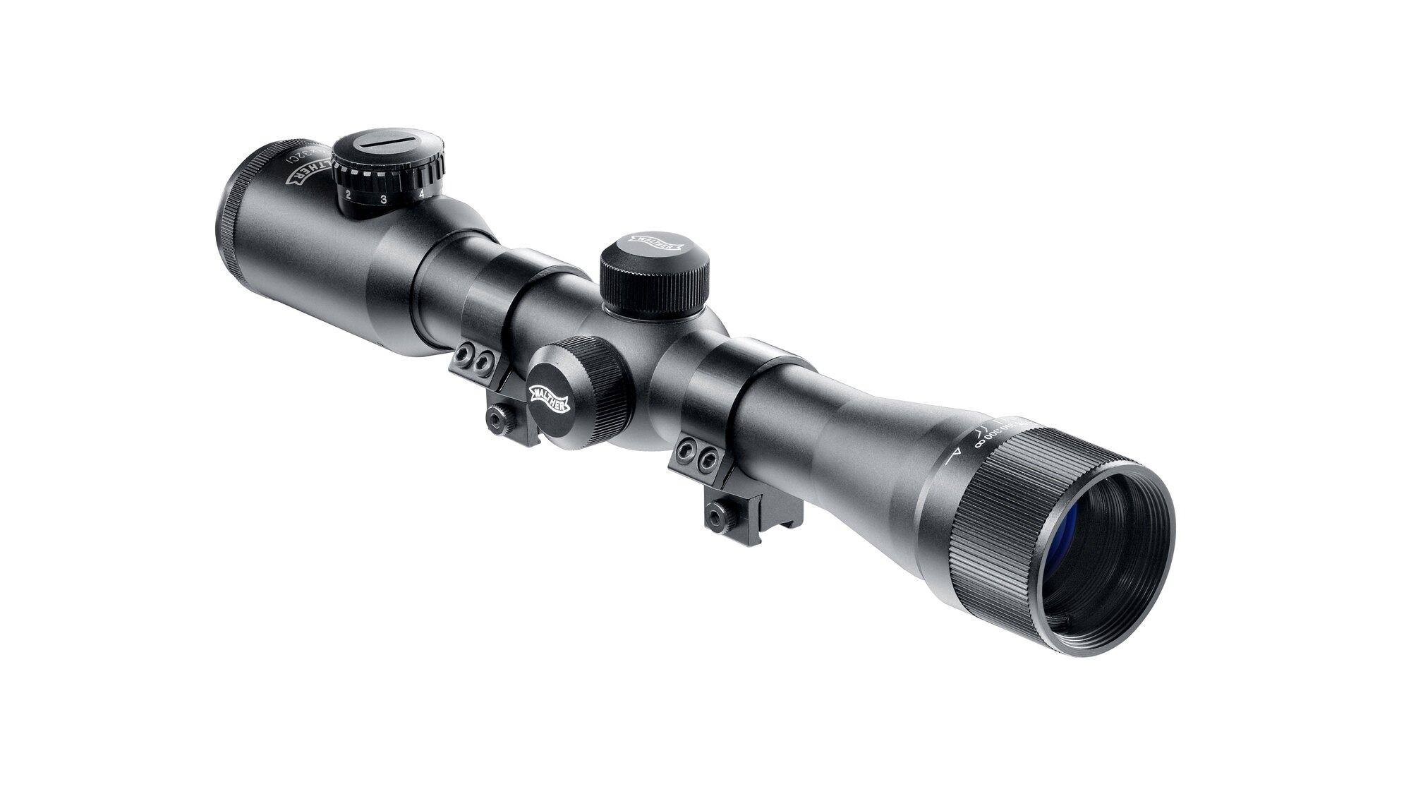 Puškohľad na vzduchovku 4x 32 CI Walther® (Farba: Čierna)