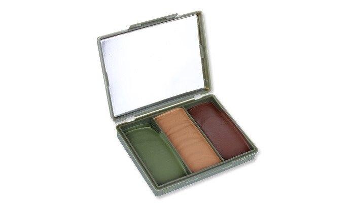 Maskovacie farby Compact NATO BCB® – hnedá / olivovo zelená / desert (Farba: hnedá / olivovo zelená / desert)