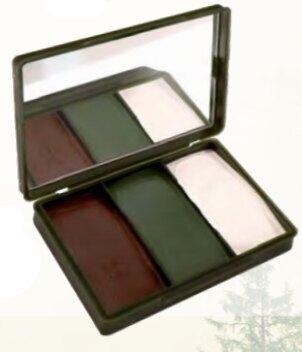 Maskovacie farby Compact NATO BCB® – hnedá / olivovo zelená / biela (Farba: hnedá / olivovo zelená / biela)