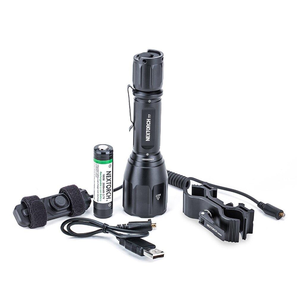 Svietidlo T7 Hunting Set 900 lm NexTorch® (Farba: Čierna)