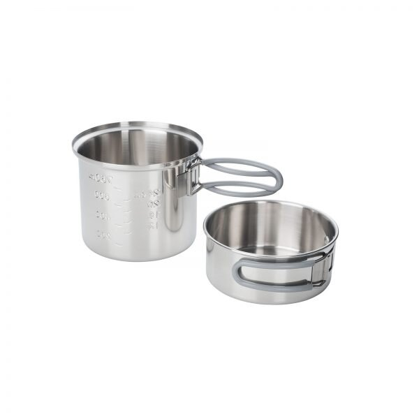 Nerezový hrniec na varenie Topf ESBIT® 1 l (Farba: Strieborná)