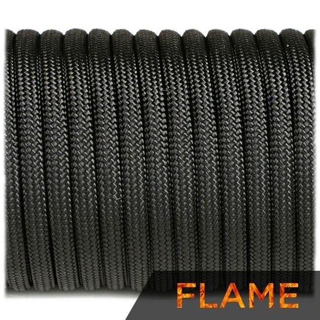 Multifunkčné lano Flame Cord 4 mm – Čierna (Farba: Čierna)