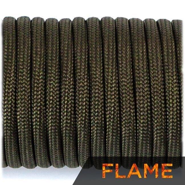 Multifunkčné lano Flame Cord 4 mm – Army Green (Farba: Army Green)