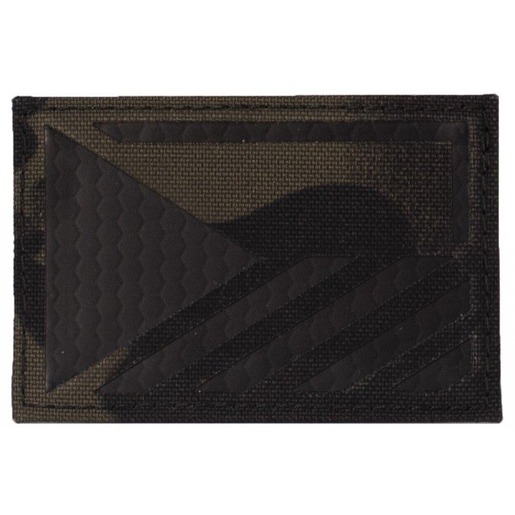 Vlajka ČR Combat Systems® rozlišovací AČR IR – Multicam® Black (Farba: Multicam® Black, Varianta: levá strana)