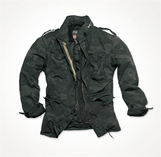 Bunda SURPLUS M65 Regiment - black camo