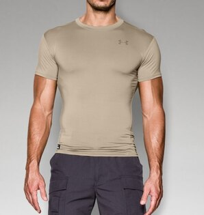 Kompresné triko UNDER ARMOUR® HeatGear® - beige