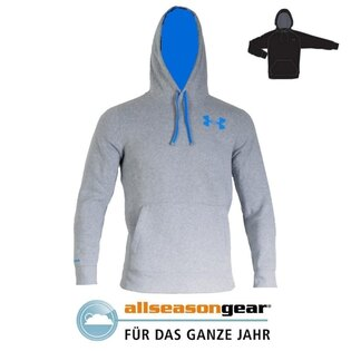 Mikina s kapucňou UNDER ARMOUR® Rival Cotton Graphic AllSeasonGear® - sivá