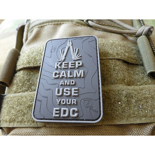 Nášivka Keep Calm and use your EDC JTG® - červená