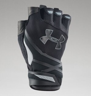 Rukavice UNDER ARMOUR® polprsté Resistor Heatgear® - čierne