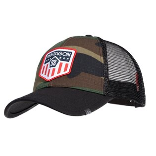 Šiltovka Era Trucker US Flag PENTAGON® - US woodland