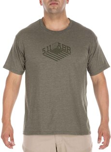 Tričko 5.11 Tactical® Stronghold -  Military Green Heather
