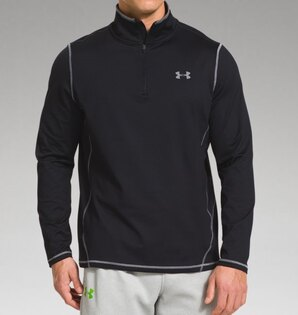 Triko UNDER ARMOUR® ¼ Zip Evo - čierne