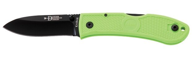 Zatvárací nôž KA-BAR® 4062ZG - Dozier Folding Hunter - zombie green